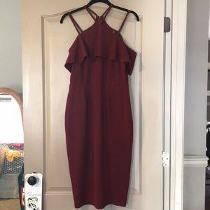 ASOS strappy maroon midi dress